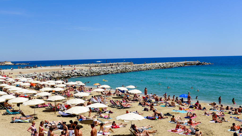 Barceloneta, one of the most popular beaches in Barcelona