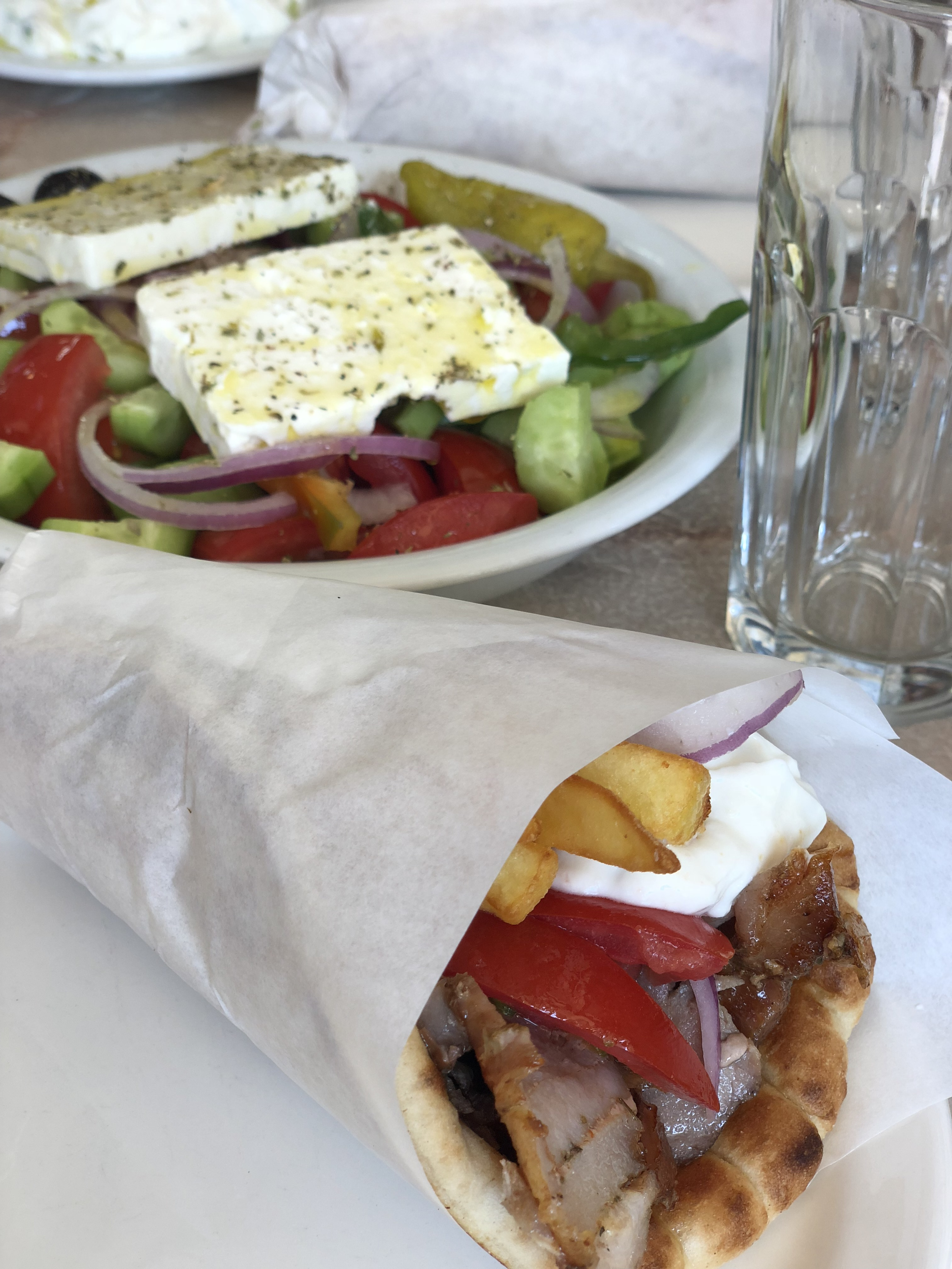 Be sure to try some of the best gyros in Athens!