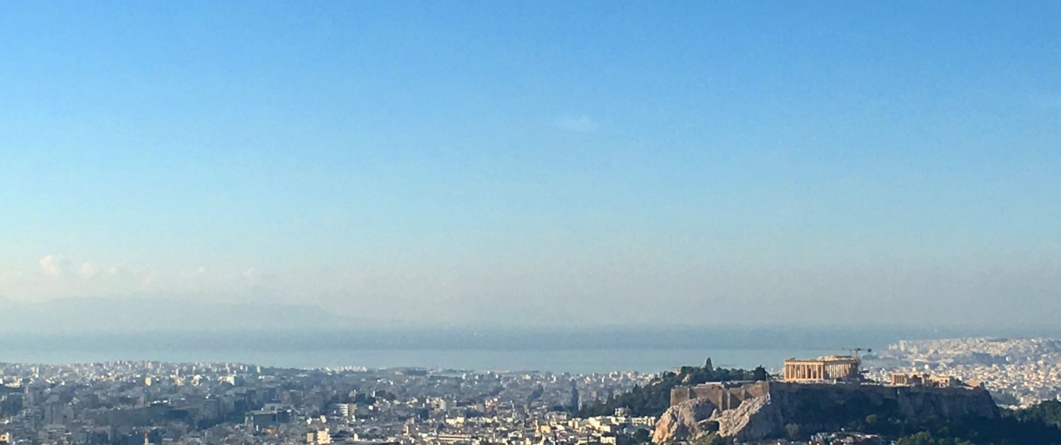 The view of the Athens City from Lycabettus Hill