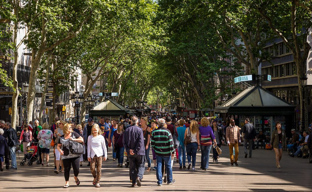 Walking down Las Ramblas is essential when visiting Barcelona!