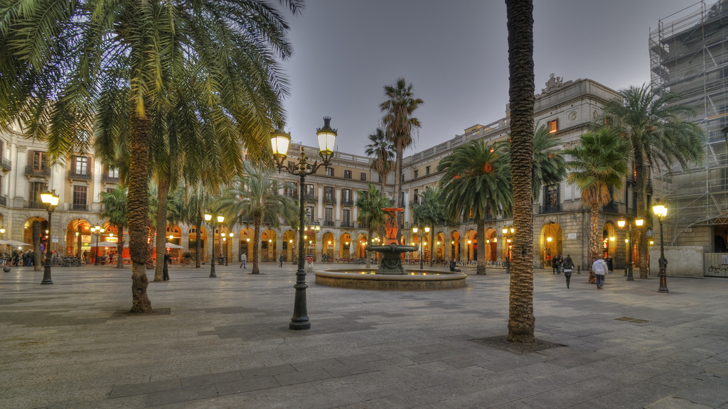 Plaça Reial is one of the highlights of Barcelona's Gothic Quarter