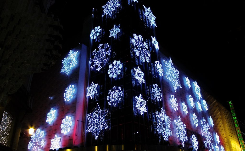 The Corte Ingles is all dressed up for the holidays in Madrid!