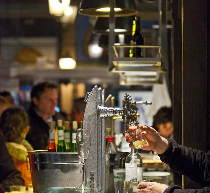 The Mercado de San Miguel in Madrid not only has delicious food, but exquisite wine, too!