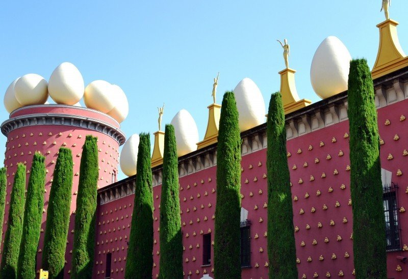 Salvador Dalí's art is prominently on display at his museum in Figueres!