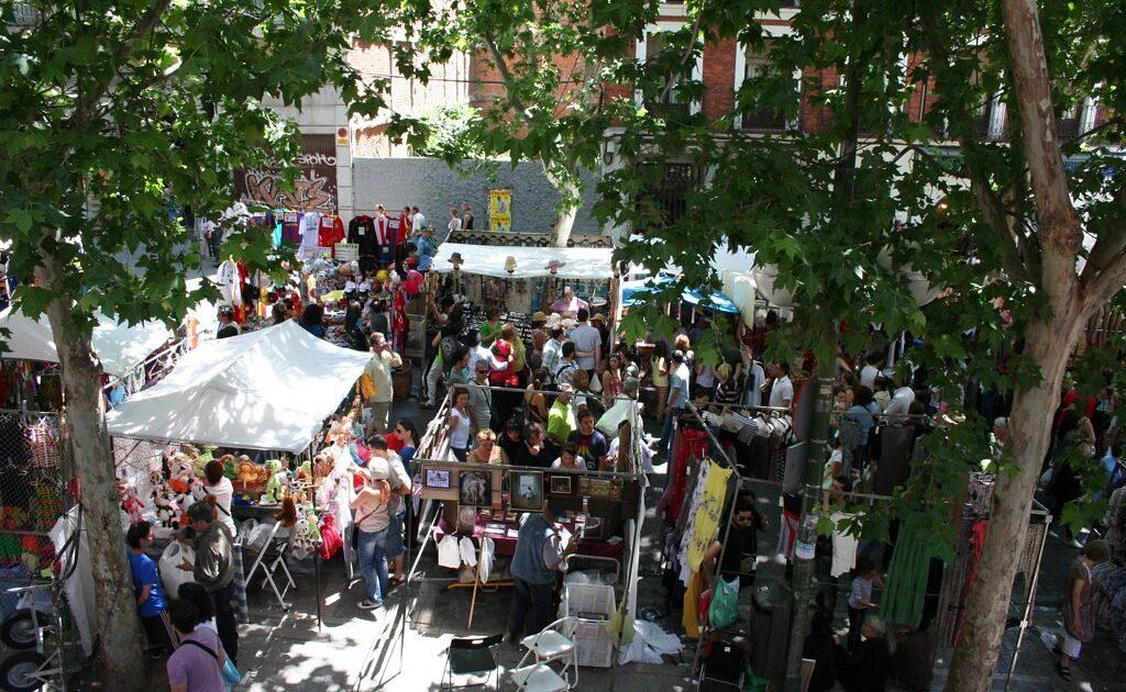 Visit El Rstro to get a taste of the flea markets in Madrid