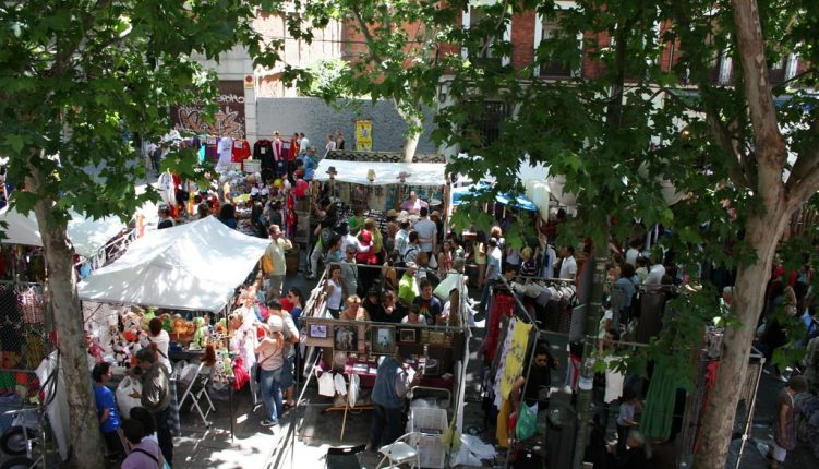 Visit El Rastro to get a taste of the flea markets in Madrid