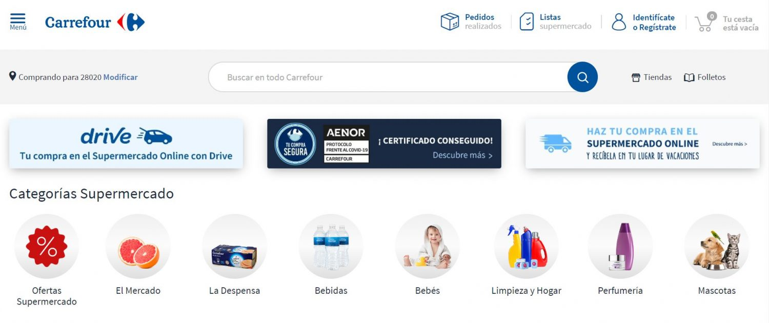 Carrefour Online Website